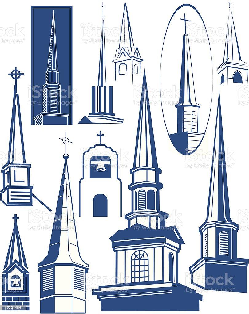 Design Elements - Steeples vector art illustration