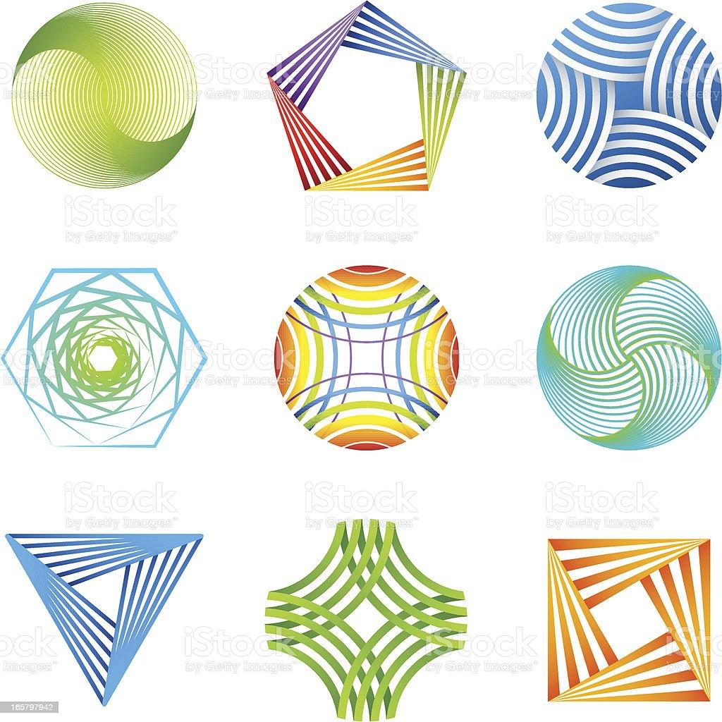 Design Elements | striped set royalty-free stock vector art