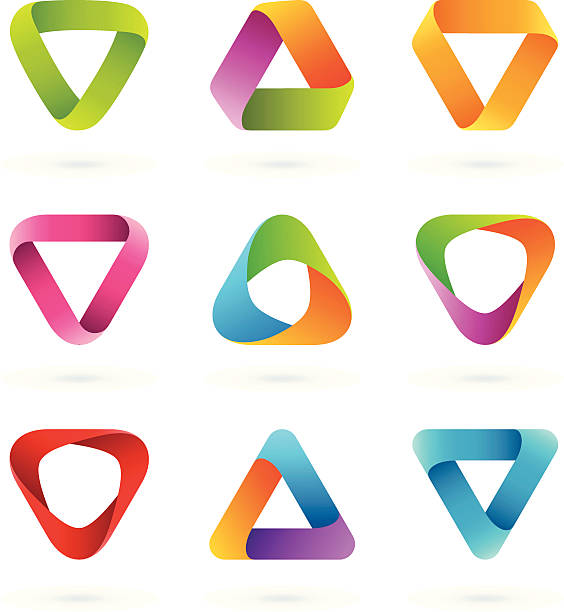 Design Elements   Striped symbols #5 vector art illustration