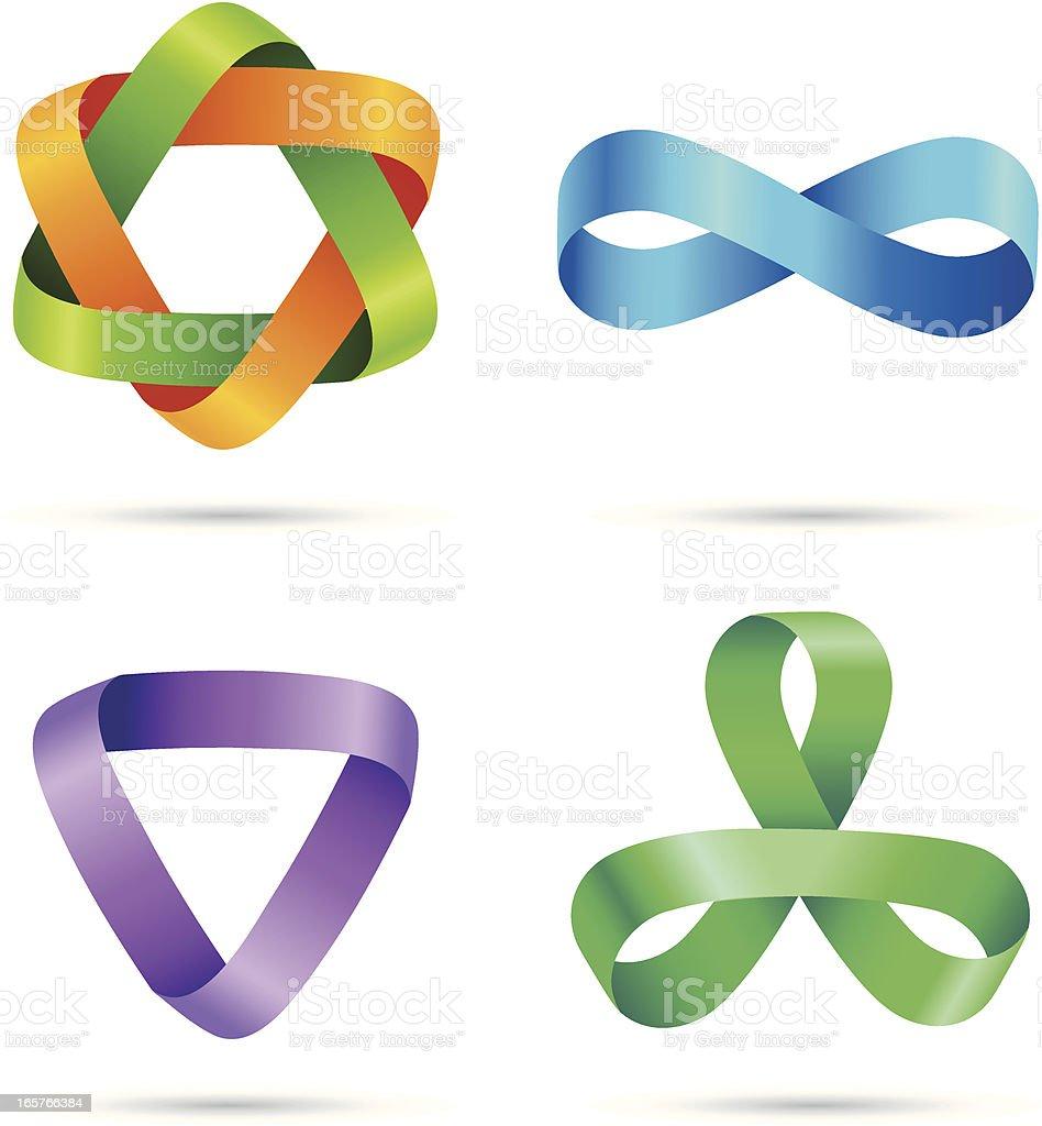 Design Elements | Striped symbols #3 vector art illustration