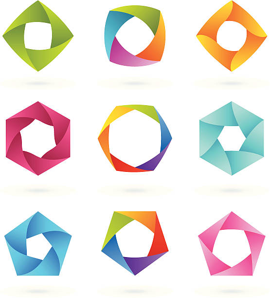 Design Elements   Striped symbols #4 vector art illustration