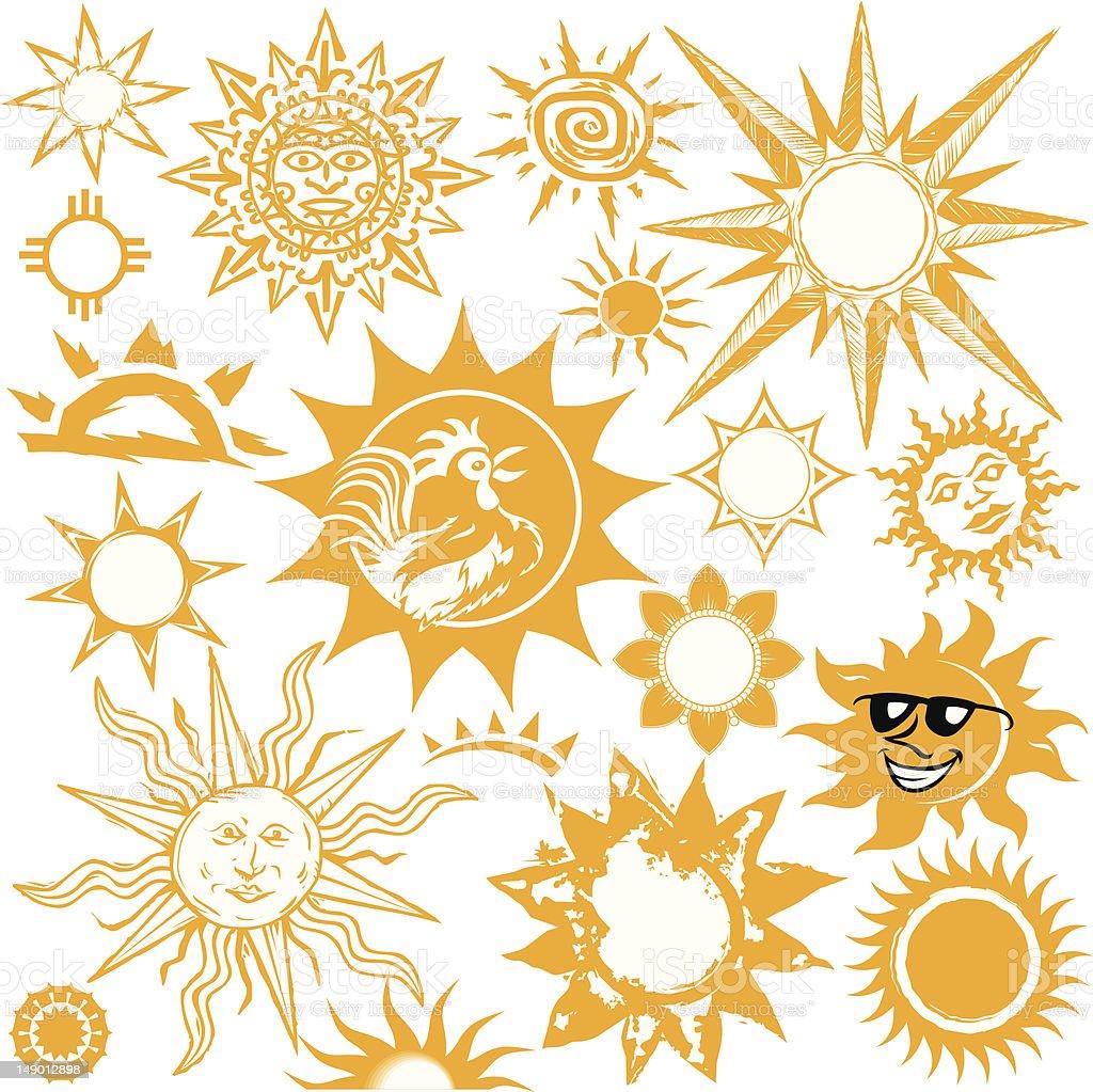 Design Elements - Suns vector art illustration
