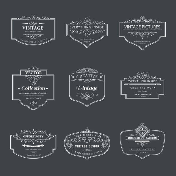 royalty free drawing of plaque design templates clip art vector