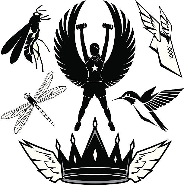 Design Elements - Things With Wings vector art illustration