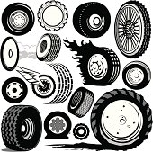 Different styles of tires