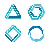 Vector illustration of the 3d design elements