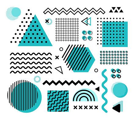 Vector illustration of the design elements.