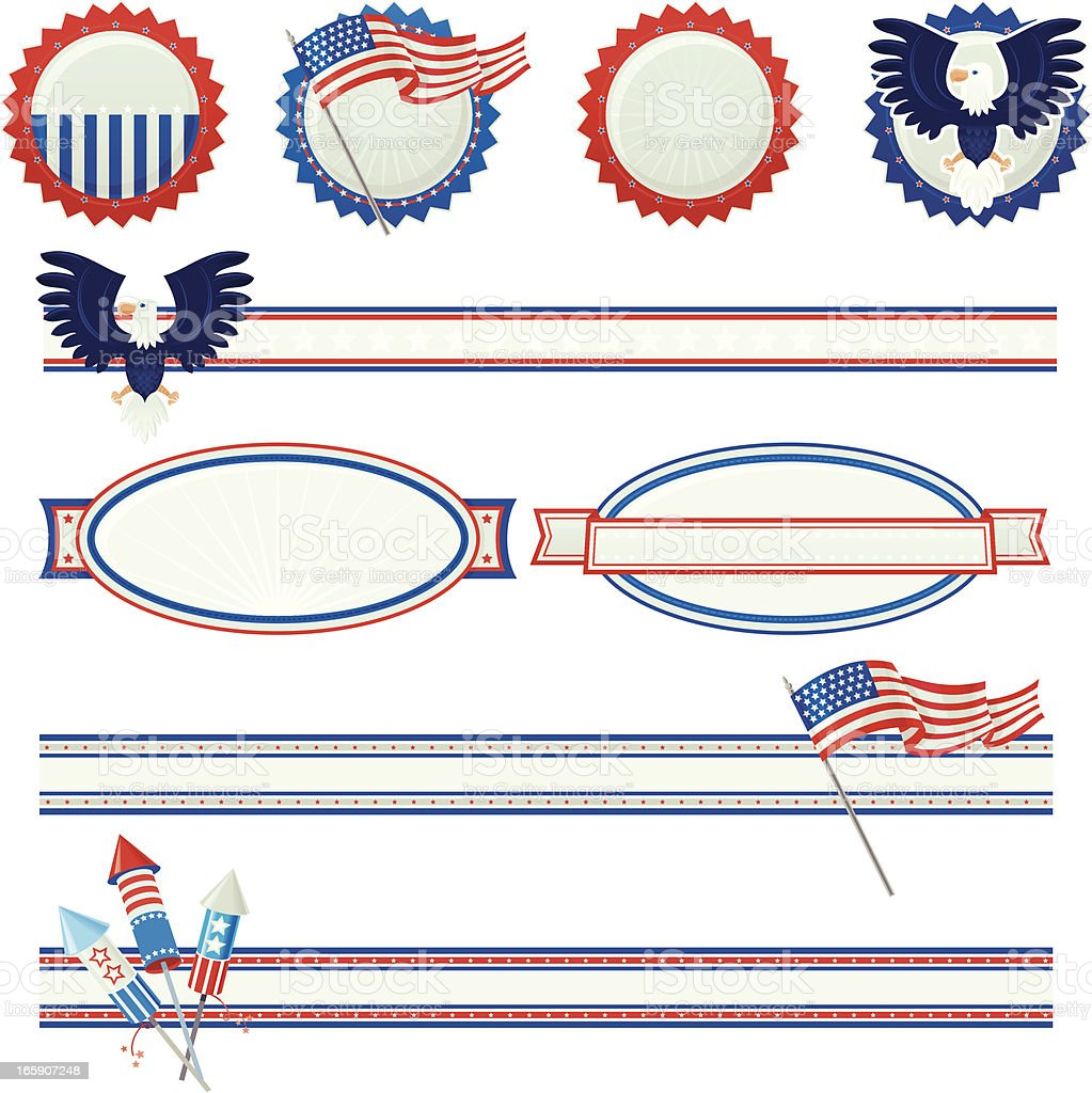 USA Design Elements royalty-free stock vector art