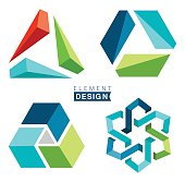 Design elements in blue and green colors.