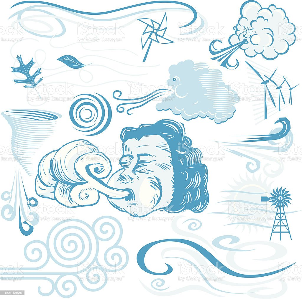 Design Elements - Wind vector art illustration