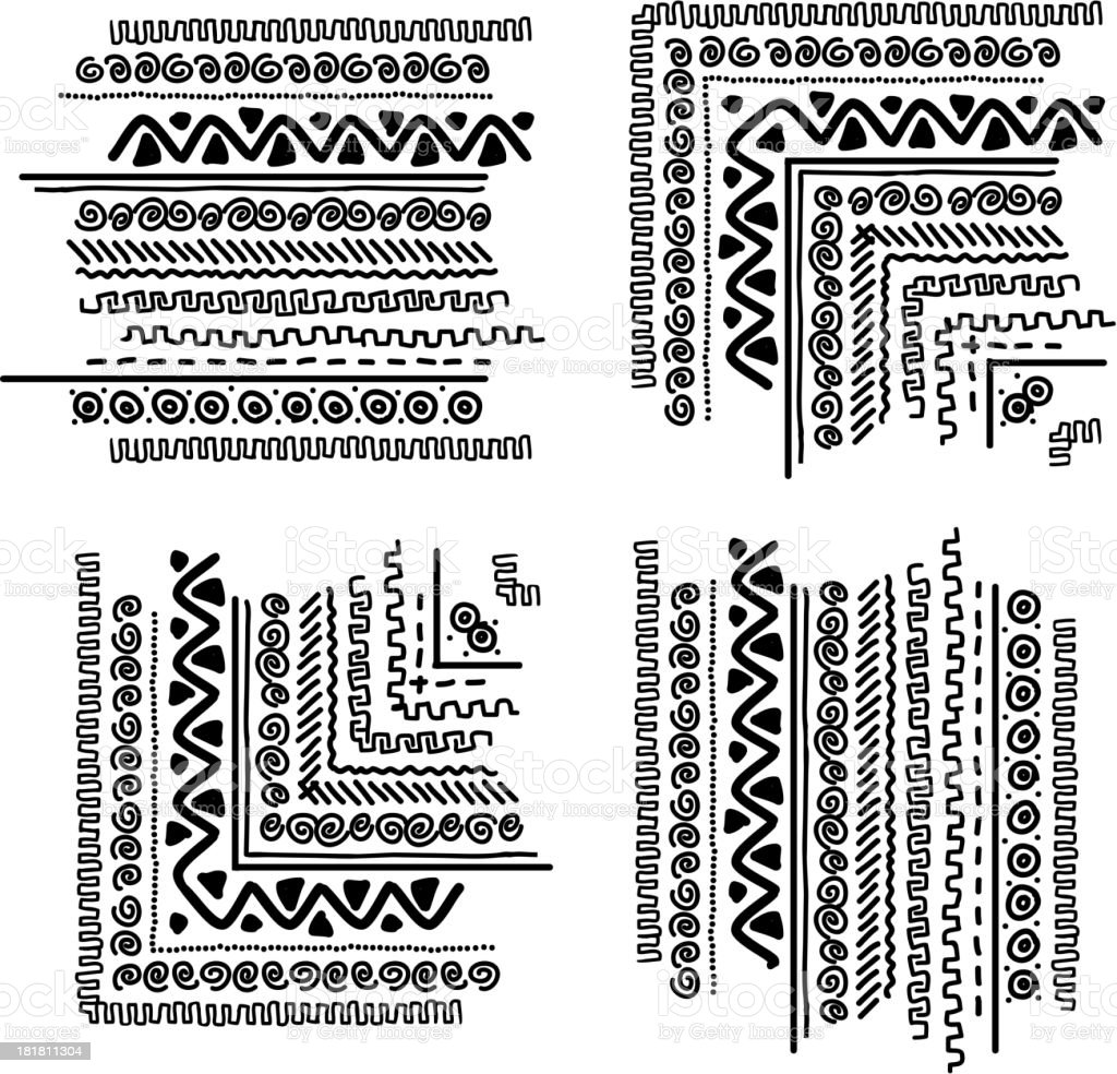 Design elements with ethnic handmade ornament royalty-free stock vector art