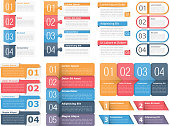 Design Elements with Numbers and Text