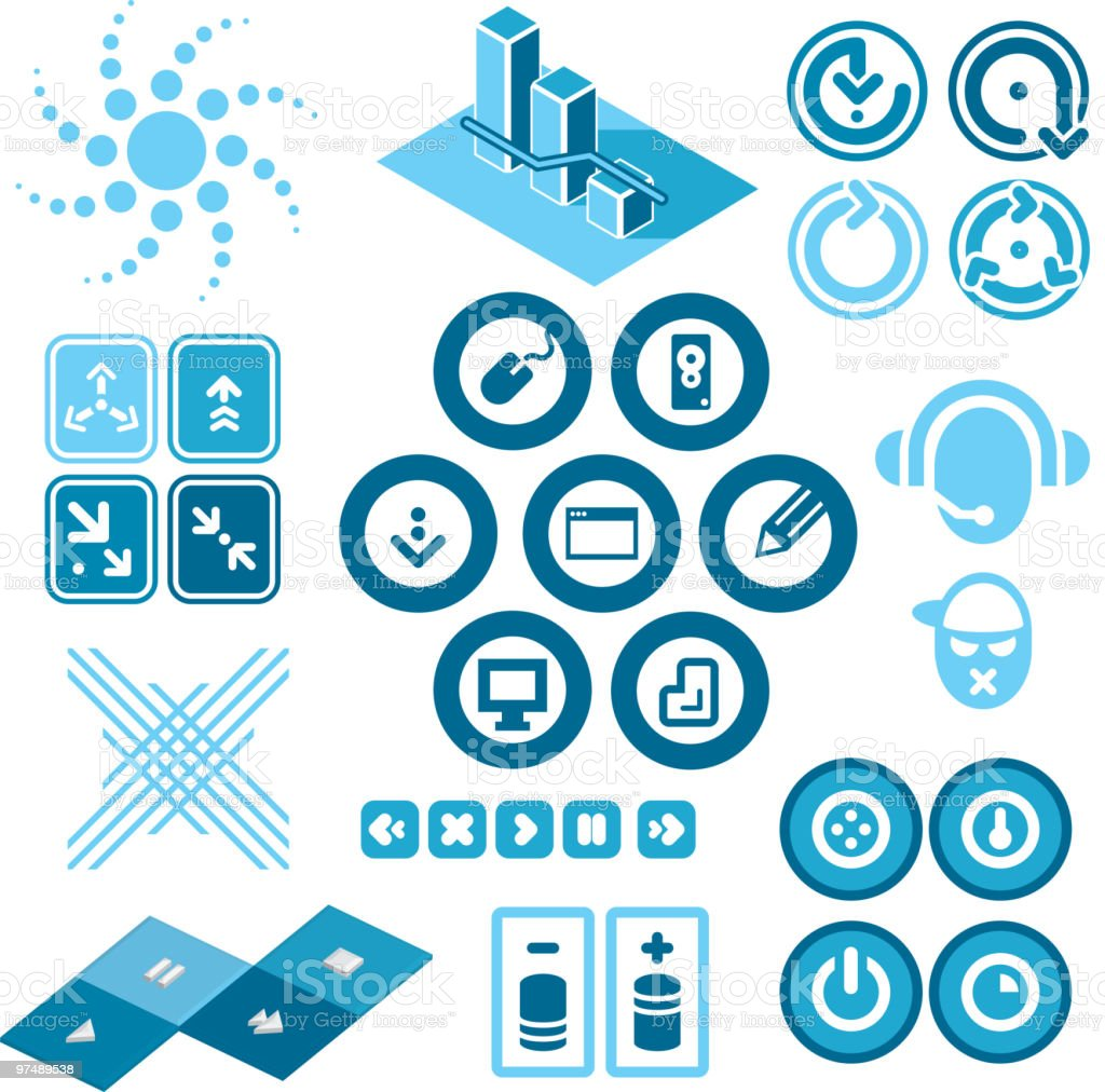 Design Elementsp. 1 'Icons' royalty-free stock vector art