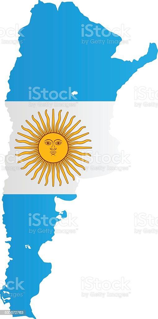 Design-Flagge Karte von Argentinien – Vektorgrafik
