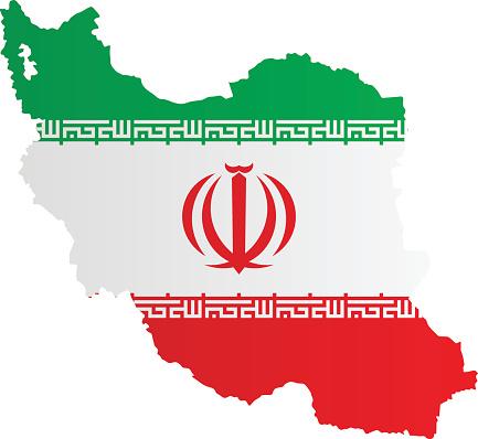 Design Flag-Map of Iran