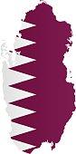 Design Flag-Map of Qatar.