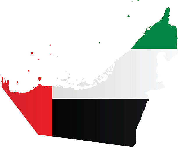design flag-map of united arab emirates - uae flag 幅插畫檔、美工圖案、卡通及圖標
