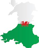 Design Flag-Map of Wales