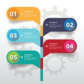Design Flat Shadow Tree shape banners timeline/graphic or websit