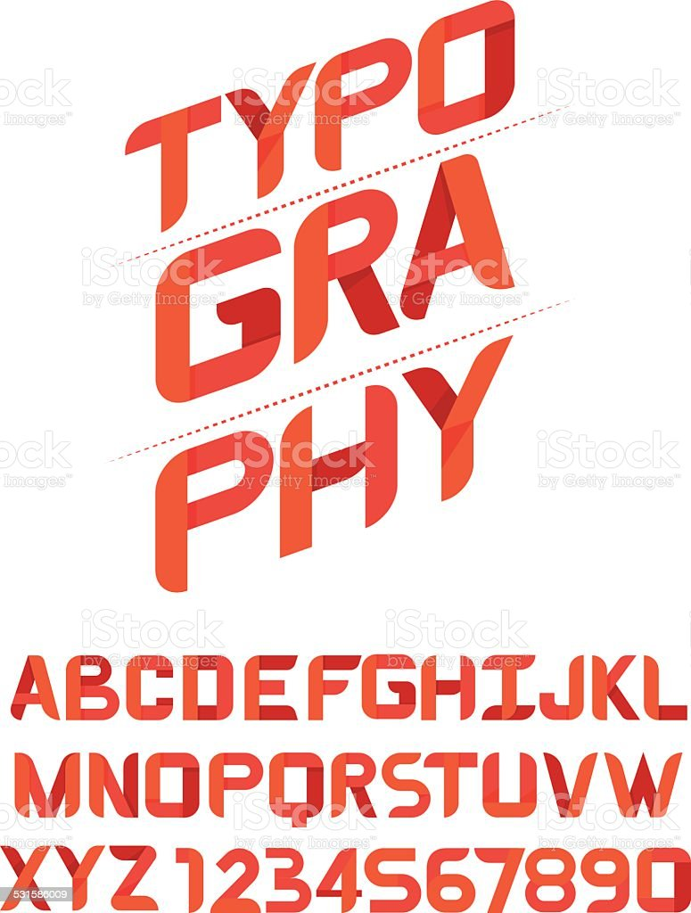 TYPOGRAPHY Design font for you.vector vector art illustration