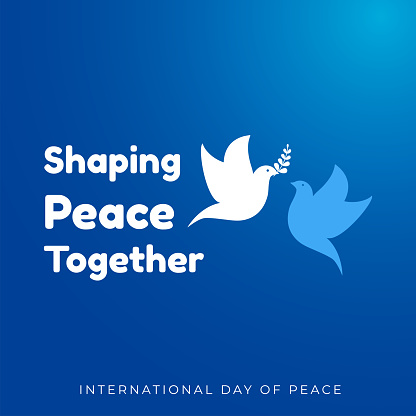 Design for celebrating international day of peace. happy world peace day greeting. vector illustration