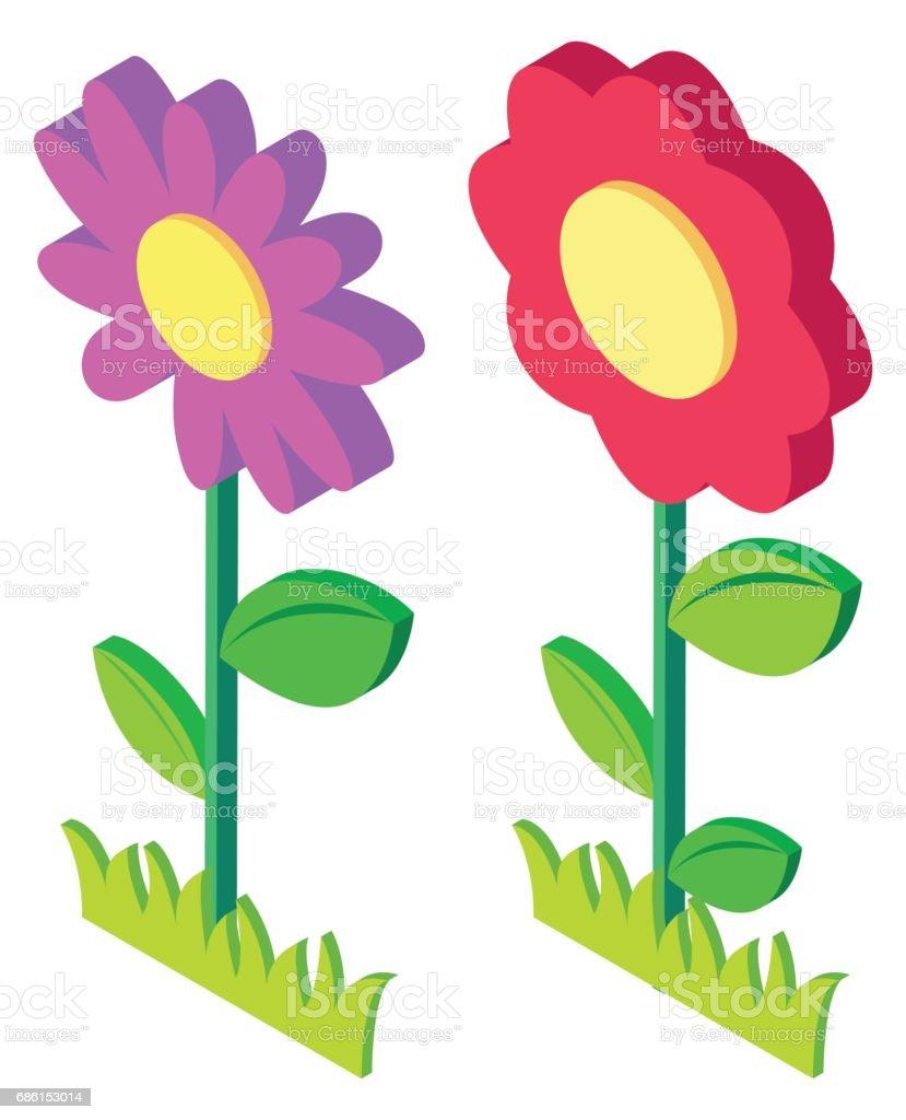 ilustração de 3d desenho de flores coloridas e mais banco de imagens