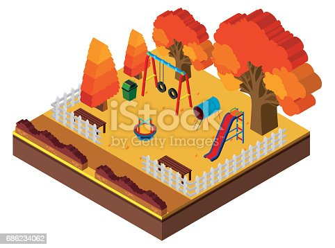 istock 3D design for playground in autumn 686234062