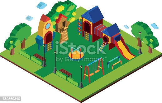 istock 3D design for playground 680360340