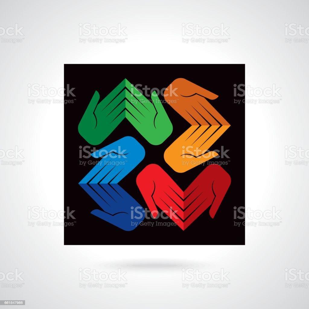 design for teamwork concept vector art illustration