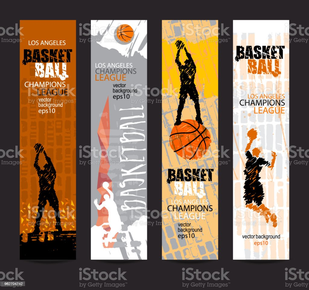 Design For The Basketball Championship Set Banners Flyer Template Sports  Grunge Styleeps File Is Layered Stock Illustration - Download Image Now