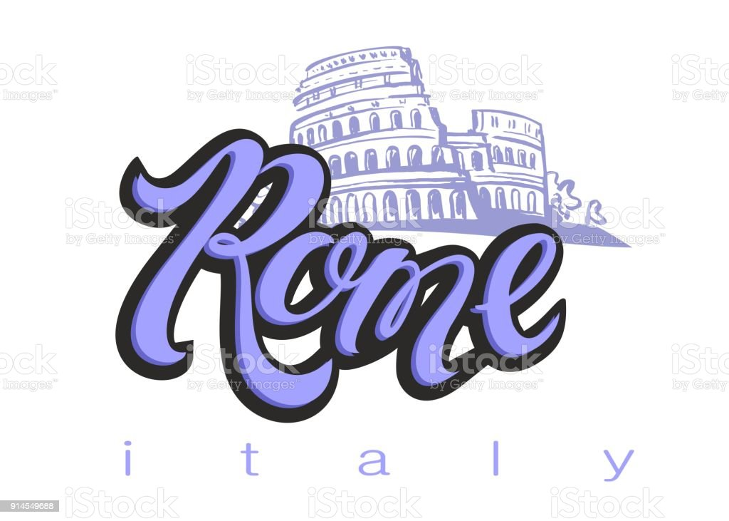 Design for the tourism industry trip to italy city of rome lettering design for the tourism industry trip to italy city of rome lettering altavistaventures Choice Image