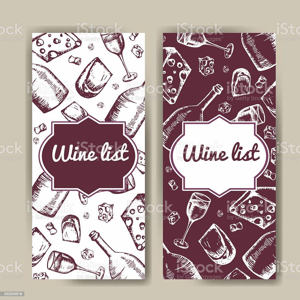Ilustración de Diseño De Carta De Vinos Plantilla De Invitación ...