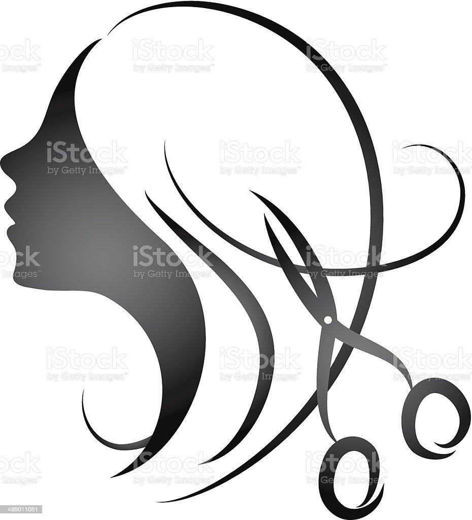 Design for womens hairdressing salon vector art illustration