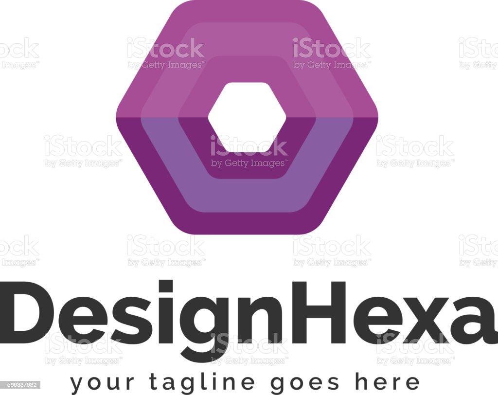 Design Hexa Logo Template royalty-free design hexa logo template stock vector art & more images of abstract