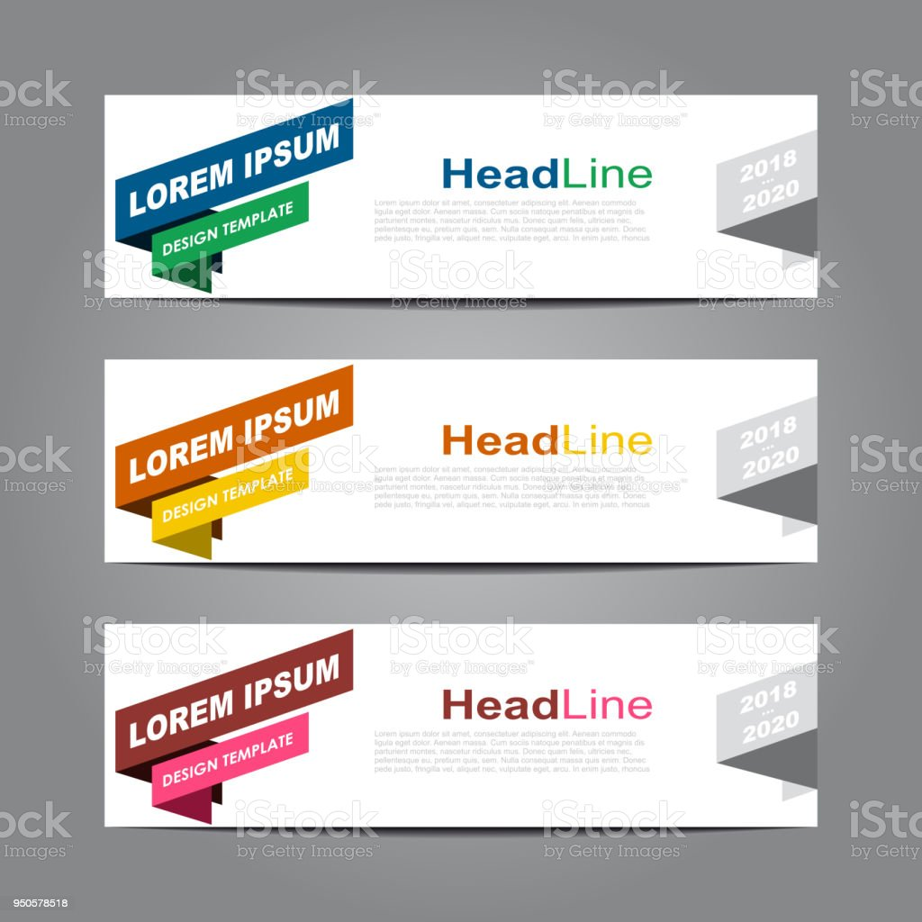 Design horisontell mall flyer banner. Vektorillustration. vektorkonstillustration