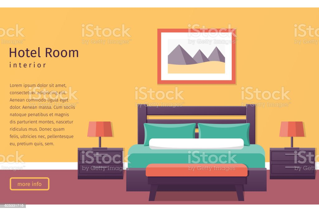 Design hotel room. Vector background. – Vektorgrafik