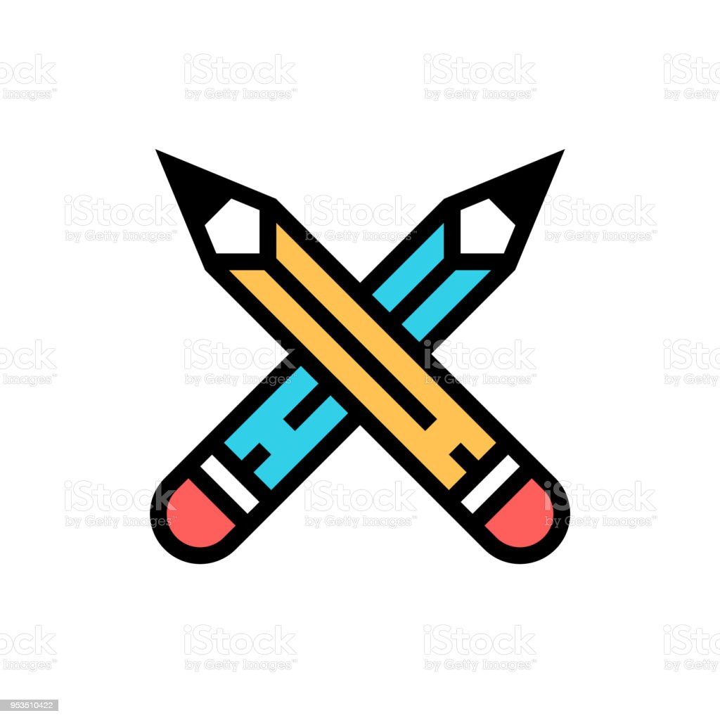design icon two crossed pens vector stock vector art more images rh istockphoto com cross pens gold plated cross pens gold filled