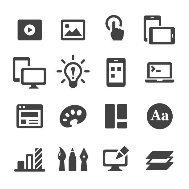 UI Design Icons - Acme Series UI Design, Design, Graphic Design, graphic design studio multimedia stock illustrations