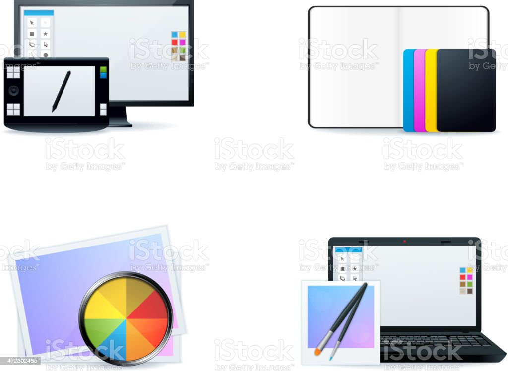 Design Icons royalty-free design icons stock vector art & more images of colors