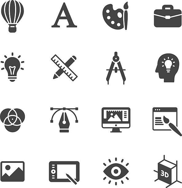 illustrations, cliparts, dessins animés et icônes de design icônes - art