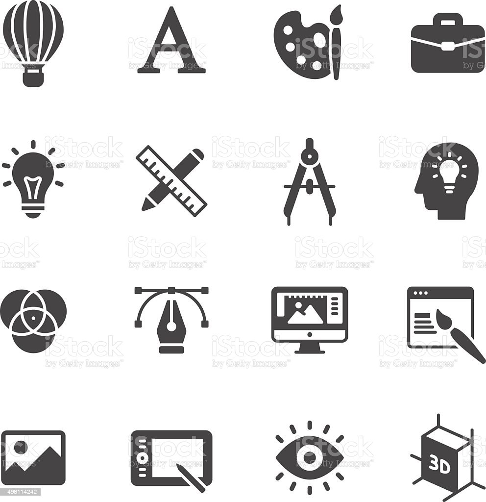 Design Icons vector art illustration