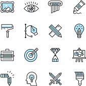 Design vector icons. Files included: Vector EPS 10, JPEG 3000 x 3000 px, transparent PNG, AI 17