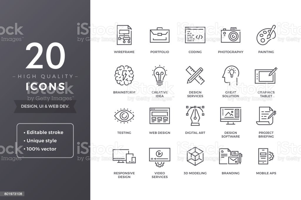 Design Icons royalty-free design icons stock illustration - download image now