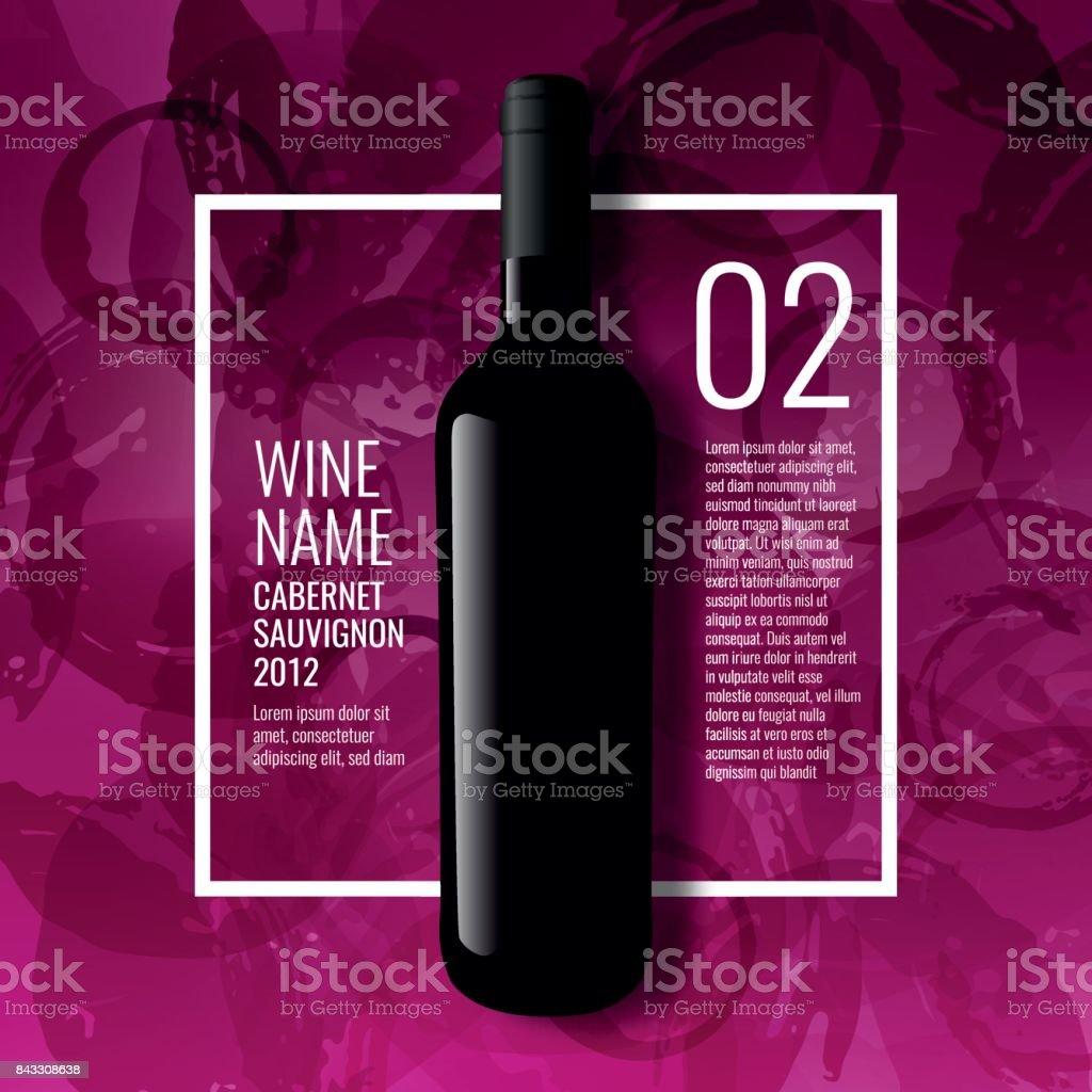 Idée de conception pour la présentation des bouteilles de vin - Illustration vectorielle