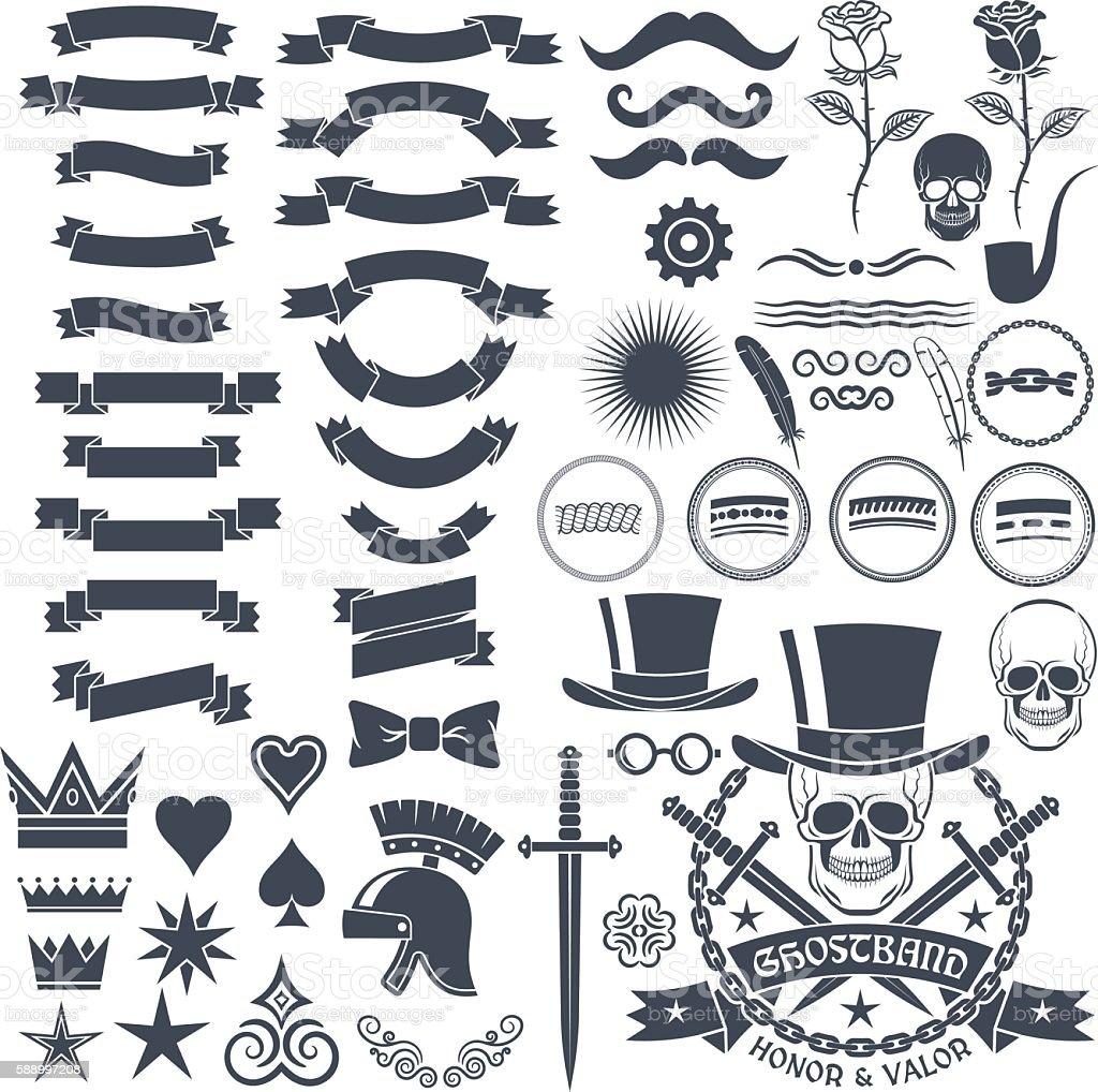 design in vintage style - ilustração de arte em vetor