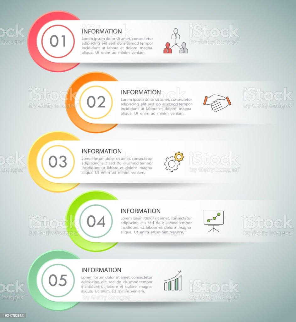 Ilustración de Infografía Plantilla 5 Opciones De Diseño Concepto De ...