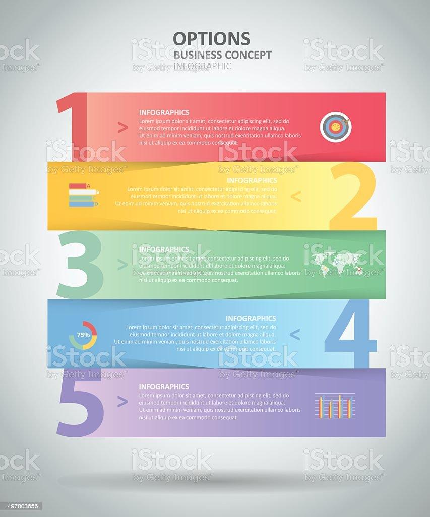 Infografía Diseño Plantilla 5 Steps Para Bussiness Concepto ...