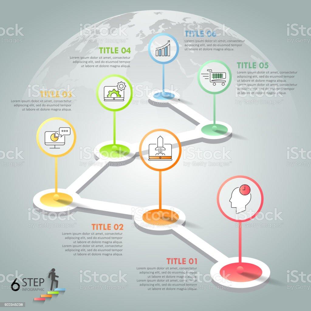 Ilustración de Infografía Plantilla 6 Opciones De Diseño Concepto De ...