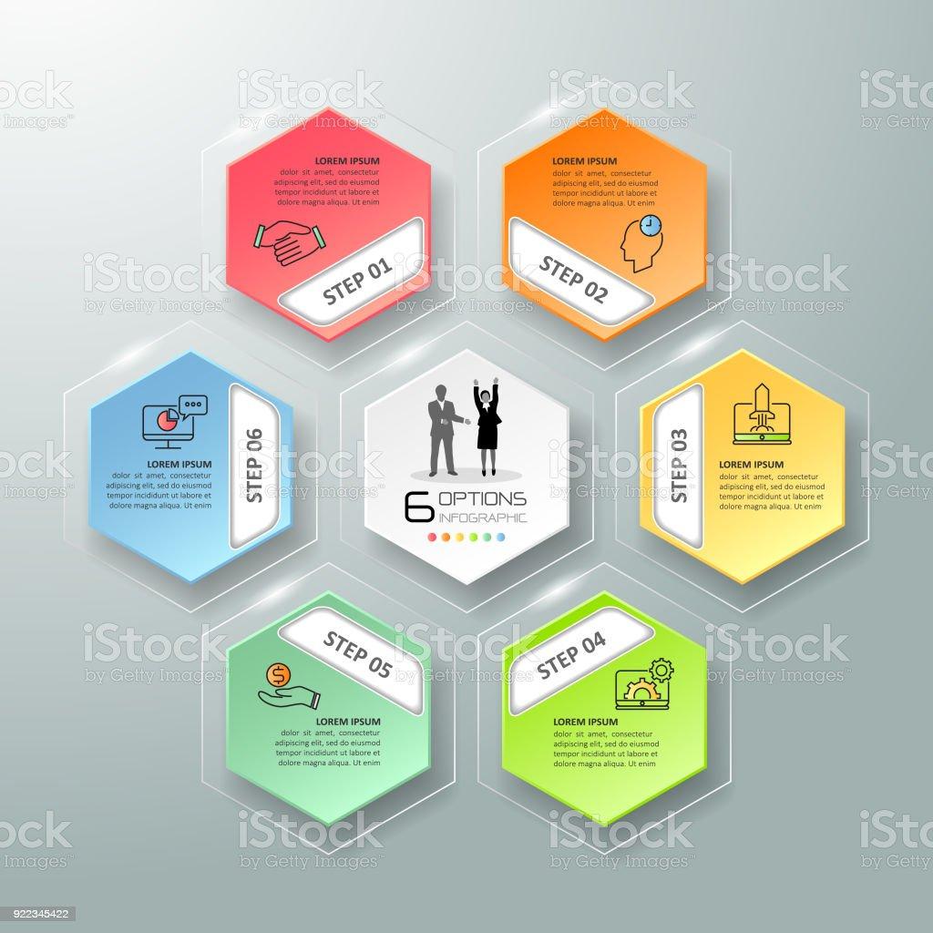 Infografía Plantilla 6 Opciones De Diseño Concepto De Negocio Puede ...