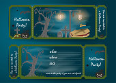 istock design layout_11_invitation card for a party in the style of flat on the theme of all saints eve, Halloween 1165734198